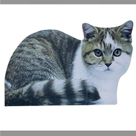 Other - Bits and Pieces - Grey Cat Doormat - Clever Door M